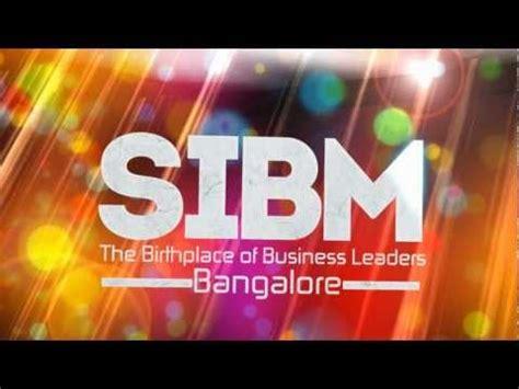 Symbiosis Part Time Mba Bangalore by Sibm B Bangalore Symbiosis Institute Of Business