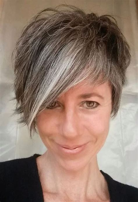 pixie transition to gray image result for cute hairstyles for curly gray hair