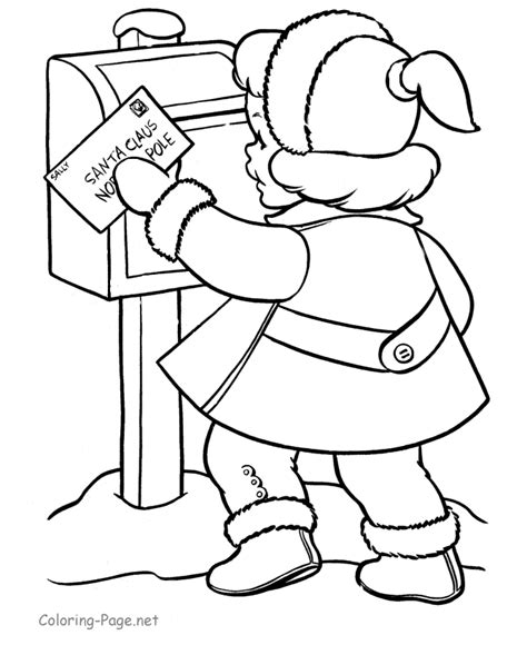 coloring page letter to santa christmas coloring pages letter to santa