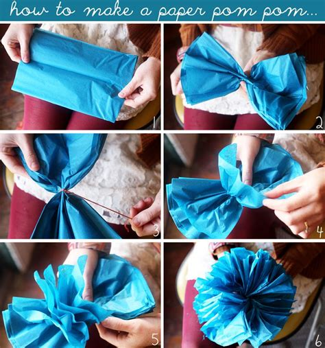 How To Make Mini Tissue Paper Pom Poms - 10 ways to make a garland a beautiful mess