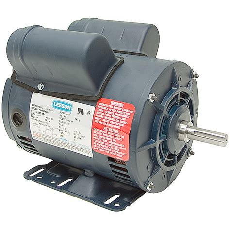 5 hp special duty 230 volt ac 3450 rpm leeson air compressor motor air compressor motors air