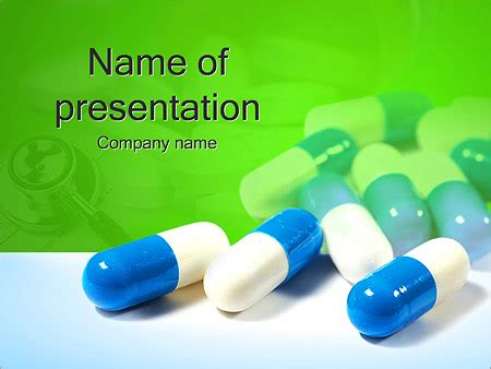 Pills On Green Powerpoint Template Backgrounds Id 0000002098 Smiletemplates Com Pills Powerpoint Template