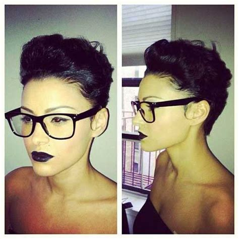 pixie cut curly hair glasses 15 pixie cuts for curly hair short hairstyles 2017