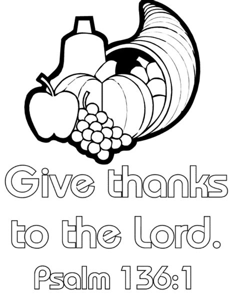 christian coloring pages about giving thanksgiving coloring page it s great for sunday school