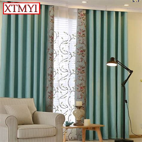 cheap linen curtain panels online get cheap blue linen curtains aliexpress com