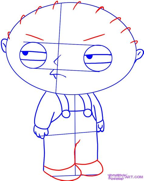 draw with how to draw stewie griffin from the family step by