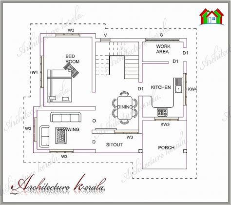 kerala home design 1000 sq feet house plan best of below 1000 sq ft house plans in kera