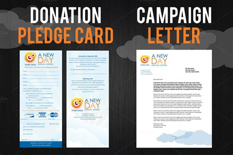 fundraising caign pack brochure templates on creative