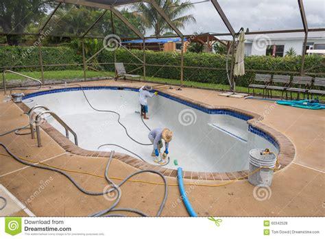 pool gestalten pool gestalten und resurfaceing um stockfoto bild 60342528