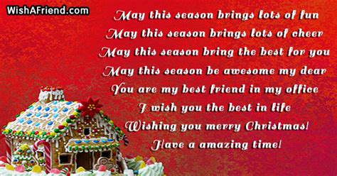 season brings lots  christmas messages  coworkers