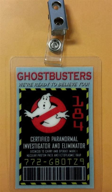 ghostbusters id card template the world s catalog of ideas