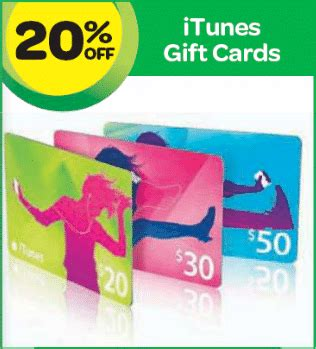 Gift Cards On Sale Discount - expired discount itunes cards at woolworths this week save 20 gift cards on sale