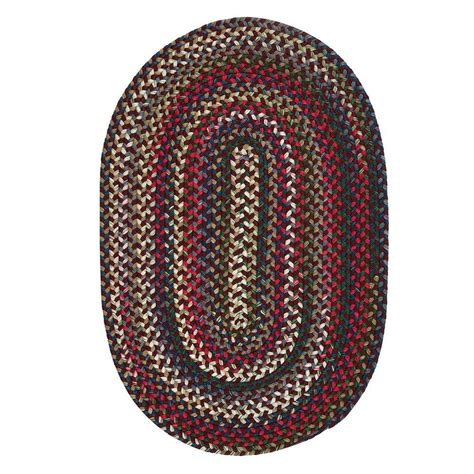 braided oval rugs colonial mills chestnut knoll 7 ft x 9 ft oval braided area rug ck77r084x108 the
