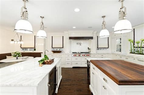 Gourmet Kitchen with Three Islands   Transitional   Kitchen