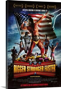 bigger stronger faster  poster photo canvas print