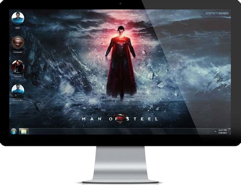 themes for windows 7 superman man of steel superman theme for windows 7 and 8