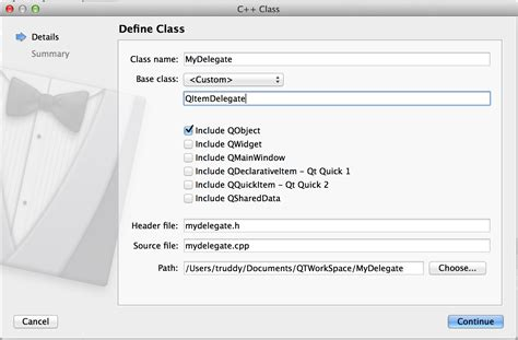 qt tutorial qobject qt why there is no include in my delegate h file