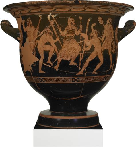 Dionysus Vase by Dionysus Or Prometheus Surrounded By Satyrs