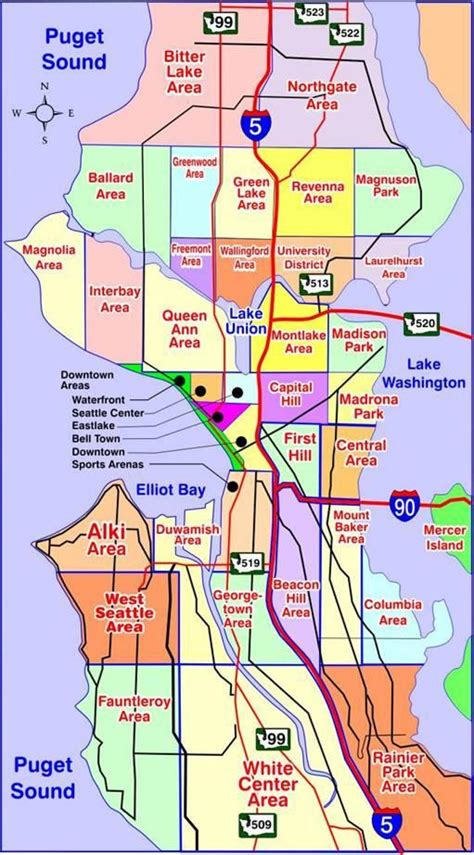 seattle neighborhood map map of seattle neighborhoods seattle map neighborhoods