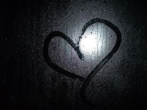 wallpaper dark heart glass drops rain love heart dark wallpaper black hd wallpaper