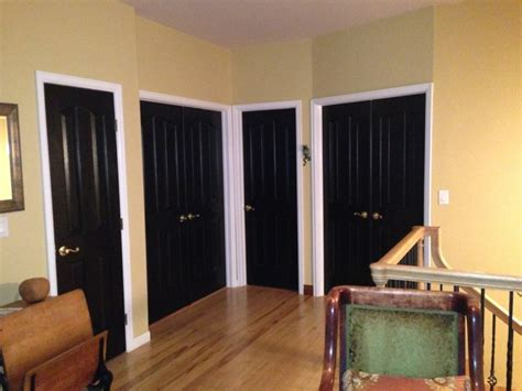 black interior house black interior doors with stained trim all about house design