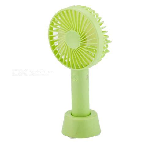 Mini Desktop Fan Green protable handheld fan 3 speed mini usb rechargeable