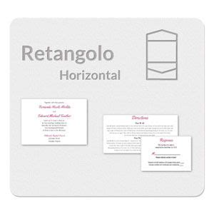 retangolo horizontal invitation template  wedding