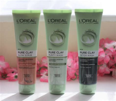 L Oreal Wash l oreal clay foam washes in purity glow and detox