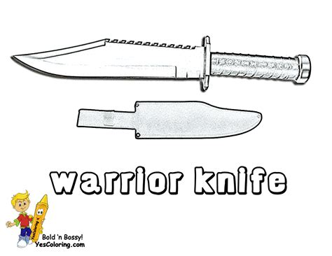 Coloring Page Knife by Gusto Coloring Pages To Print Army Army Free