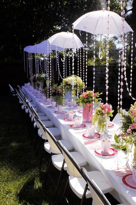 Themed Bridal Shower by Baby Shower Quot Umbrella Quot Themed Garden Brunch Flowers By
