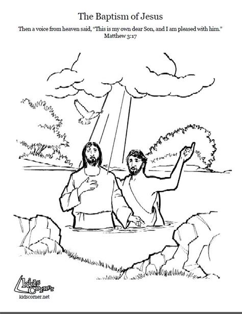 coloring pages john the baptist baptized jesus 38 best bible coloring pages images on pinterest sunday
