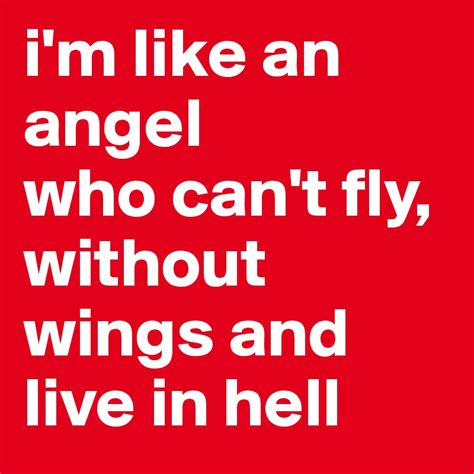 the easy action hell is living without you alice cooper i m like an angel who can t fly without wings and live in