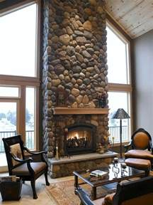 River Rock Veneer Fireplace by 25 Fireplace Ideas For A Cozy Nature Inspired Home
