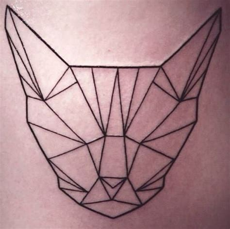 geometric cat tattoo geometric cat nearly geometric