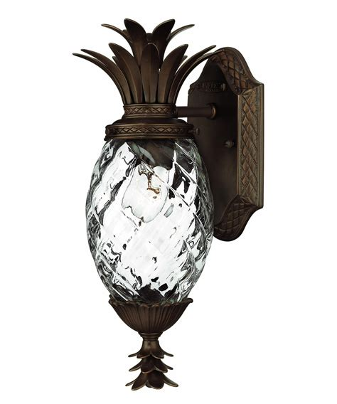Pineapple Sconces Outdoor hinkley lighting 2226 plantation exterior 1 light outdoor wall light capitol lighting 1