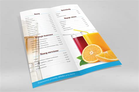 menu design mockup a4 half folded menu card mockup by nishima graphicriver