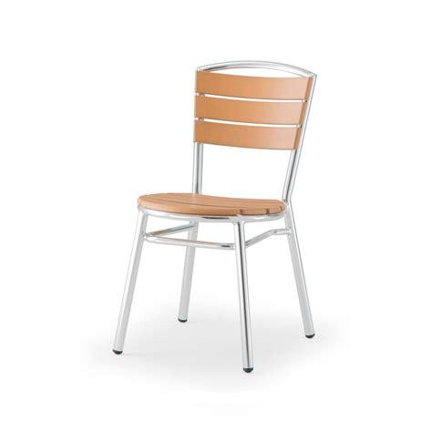 sedie in alluminio per esterno tt3 sedia in alluminio e techno wood impilabile per