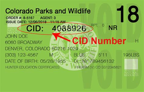 colorado parks wildlife download information packets - What Is A Cid Number On A Gift Card