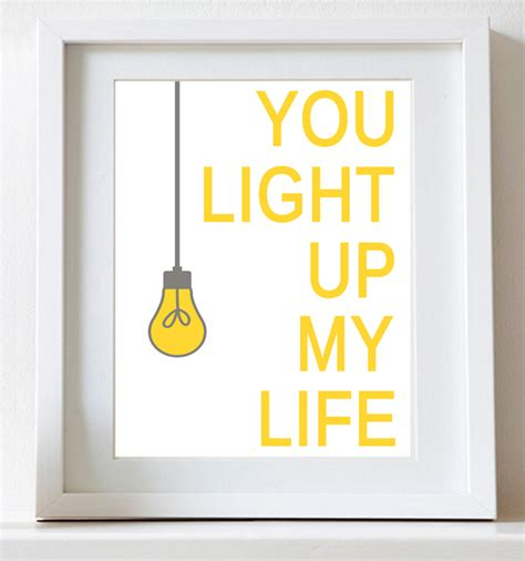 You Light Up by Nursery You Light Up Typography