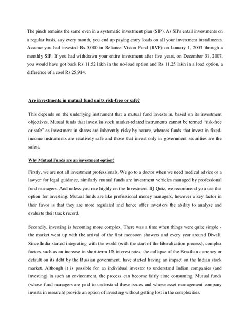 Mba At 45 Years by Summer Intership Report On Idfc Fund For Mba