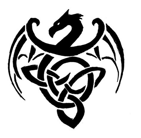 celtic dragon clipart best