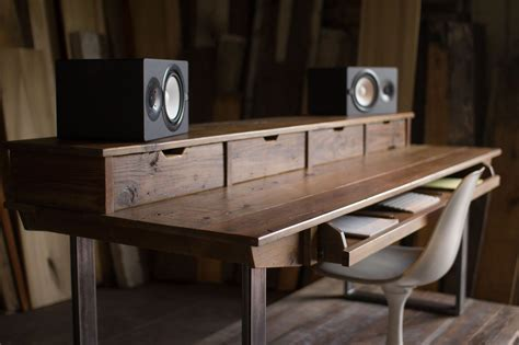 Reclaimed 88 Key Studio Desk For Audio Video Music Audio Studio Desk
