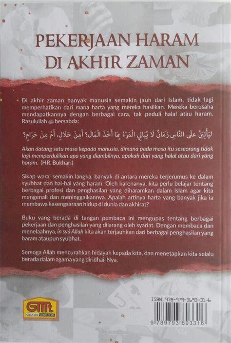 Perjalanan Menuju Akhirat Hidup Sesudah Mati Buku Islam Hakekat Mq buku pekerjaan haram di akhir zaman 15 profesi haram