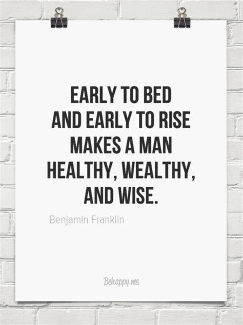early to bed early to rise quote early to bed and early to rise makes a man healthy