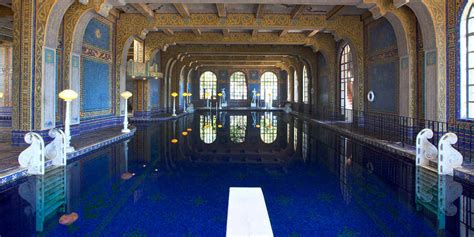 Statues Of Gods by Pools At Hearst Castle Visit California