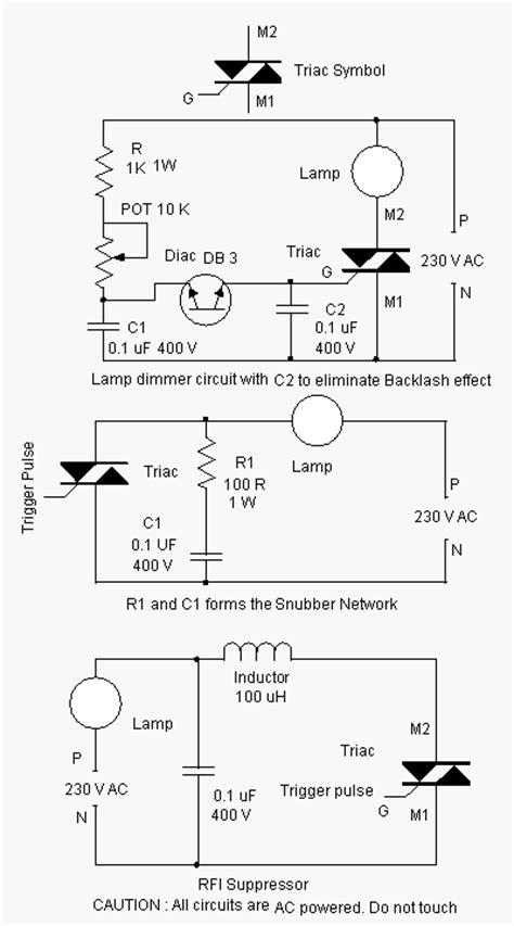 triac diagram triac optimization circuits schematic diagram