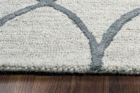 Wool Runner Rugs by Caterine Trellis Pattern Wool Runner Rug In Khaki Grey