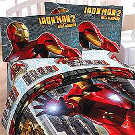 3pc iron man armor marvel comics bedding bed sheets set ebay
