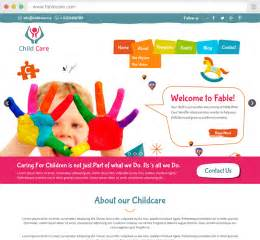 Daycare Website Templates Free Child Care Website Templates Pudink