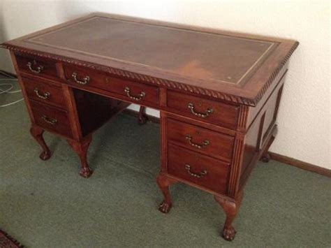 desks solid wood executive desk with inlay was sold for